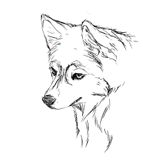 husky puppy coloring page free download