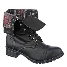 s boots combat shiekh oralee s s black fold combat boot shiekh shoes