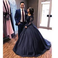 engagement dresses princess embellished sleeves navy blue prom dresses gown