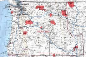 Washington Oregon Map by Large Bia Map Of Or Wa Id