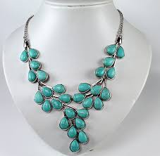 turquoise coloured necklace images Statement necklaces fashion jewellery wholesale western counties jpg