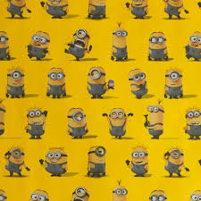 minion wrapping paper despicable me roll wrap at wilko