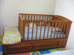 Bed Crib 3 In 1 Convertible Crib Bed With 2 Small Dressers For Sale