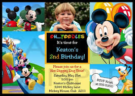 mickey mouse clubhouse 1st birthday invitations mickey mouse