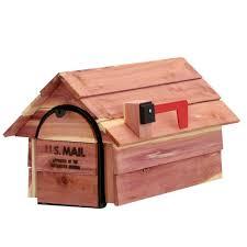 gibraltar mailboxes cedar chalet post mount mailbox cc2r0000 the