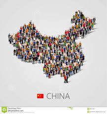 China Population Density Map by Large Group Of People In China Map Form Population Of China Or