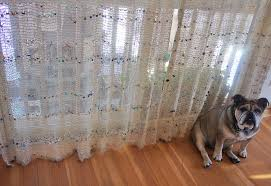 hemp twine with glass bead curtains