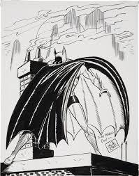 undated bob kane batman sketch in gary land u0027s silver and gold