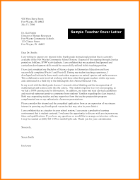 T Cover Letter Sample Sample Cover Letter For A Teaching Position Image Collections