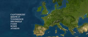 Brussels Map Of Europe by Locations University Of Kent