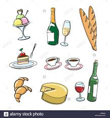 drink vector hand drawn dessert food and drinks vector icons of popular french