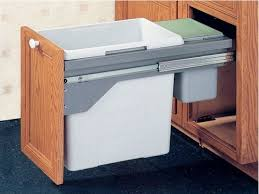 Kitchen Cabinets Slide Out Shelves by Cabinet Pull Out Trash Can