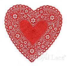 heart doilies lace heart paper doilies royal lace 75146