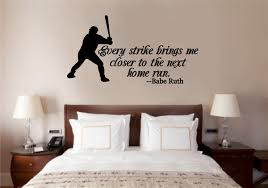 baseball ruth quote sports decor vinyl decal wall stickers