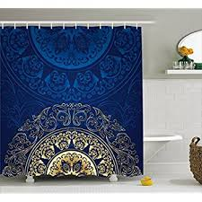 Amazon Com Shower Curtains - plain decoration royal blue shower curtain vibrant inspiration