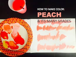 color mixing how to make peach u0026 its many shades painting