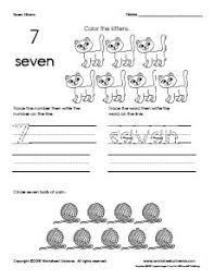 17 best number 7 worksheets images on pinterest number 7