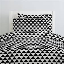 onyx triangle stack duvet cover carousel designs