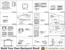 Free Wood Shed Plans 10x12 by 10x12 Shed Plans Gable Shed Storage Shed Plans Icreatables