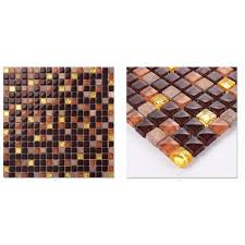 jtc 1308 premium natural stone mesh tile mix dark brown golden