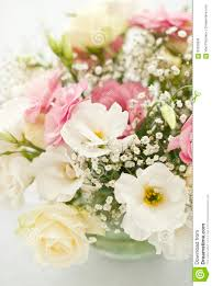 beautiful flowers on table in wedding day stock photo image