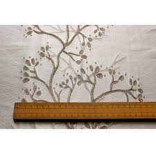 tree of life embroidered weaved curtain fabric upholstery