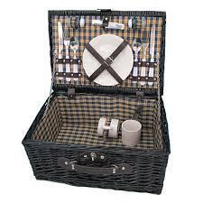 picnic basket set for 2 briscoes tablefair picnic basket set for 2 black