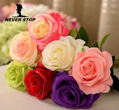 Nice Flowers Nice High Simulation Rose Flower Decorative Flowers Artifical