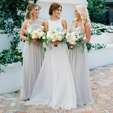 light gray long dress a line v neck long light grey chiffon bridesmaid dress dressywomen