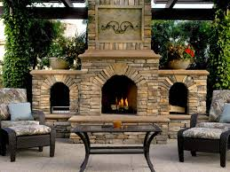 decorations rustic patio with outdoor fireplace decor and stone