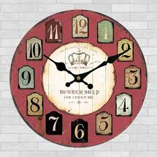 Large Shabby Chic Wall Clock by Compare Prices On Rustic Wall Clocks Large Decorative Online