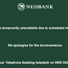 nedbank restores online banking after it glitches fin24