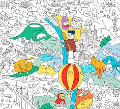 giant coloring poster france