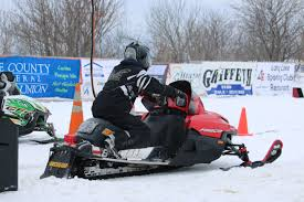 formula 3 skidoo penske ized snowmobile racer at caribou snow drags up north