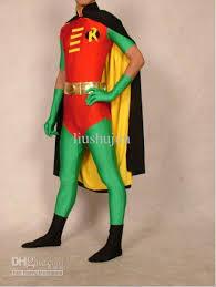 Red Robin Halloween Costume Buy Lycra Zentai Superhero Costume Red Robin
