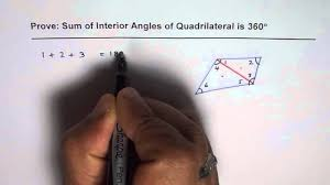 The Interior Angles Of A Triangle Always Add Up To Prove Sum Of Interior Angles Of A Quadrilateral Are 360 Degrees