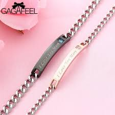 crystal chain link bracelet images Gagafeel couple bracelet for lover men women stainless steel jpg