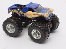 monster truck jam toys wheels monster jam blue samson die cast toy monster truck toy