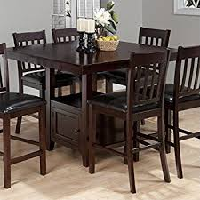 Counter Height Kitchen Tables Amazon Com Coaster Counter Height Dining Table Extension Leaf