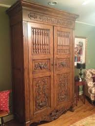 Armoire Solid Wood My Own Portal To Narnia Carved Doves In Solid Wood Armoire