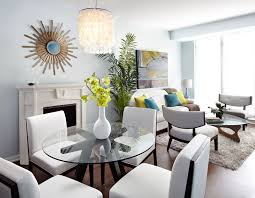 Open Concept Living Room by Modern Open Concept Condo Dining And Living Room Lux Design