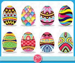 paper easter eggs items similar to easter clip colorful easter eggs pattern