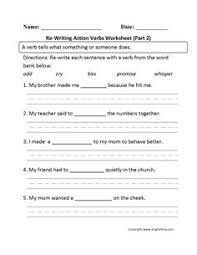 action verb worksheet ela pinterest action verbs worksheets