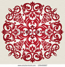 vector vintage pattern victorian style shape stock vector