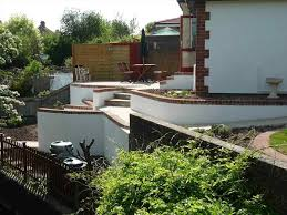 Landscape Ideas For Hillside Backyard by Steep Sloped Backyard Ideas Backyard Fence Ideas