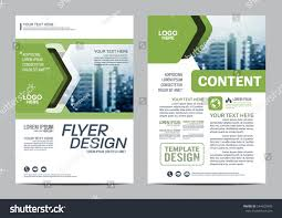 greenery brochure layout design template annual stock vector