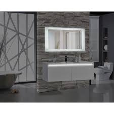 60 bathroom mirror encore blu103 60 in w x 27 in h rectangular led illuminated