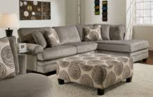 light brown microsuede sectional sofa with pull out bed using gray