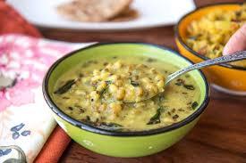 mag cuisine gujarati khatta mag moong recipe green mung beans in buttermilk