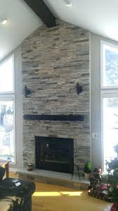 update stone fireplace surround cast painting before after by